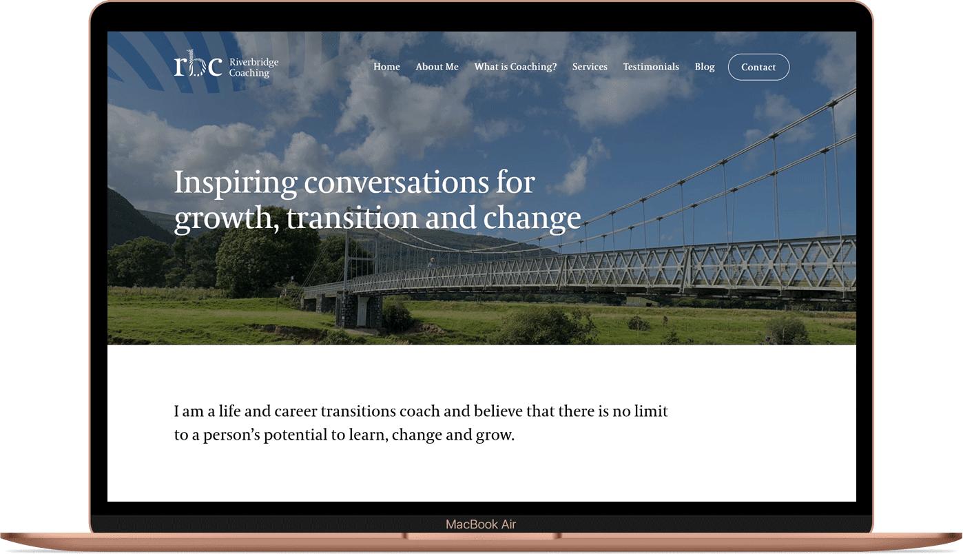 Riverbridge Coaching - Design and branding for start-up