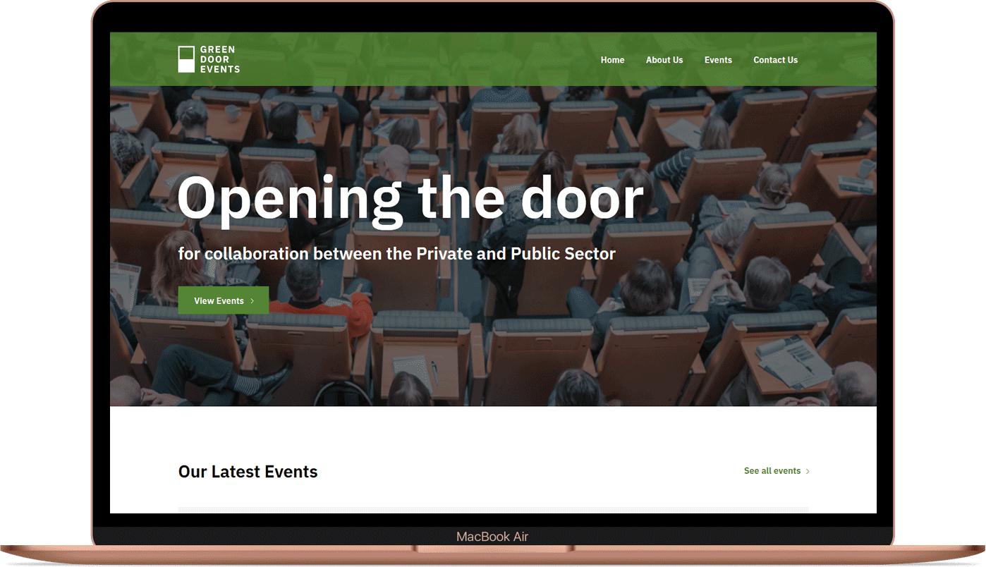 Green Door Events - Website and Branding